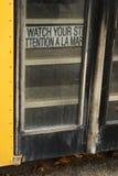 Autobusów Szkolnych drzwi Zdjęcia Stock