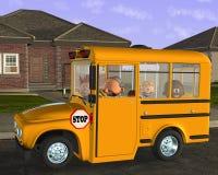 Autobusów Szkolnych dzieci ucznia edukacja Fotografia Stock
