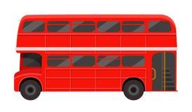 Autobus à impériale rouge moderne de passager de Londres Transport en commun britannique illustration de vecteur