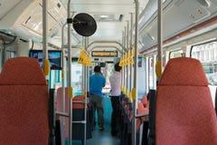 Autobus électrique en Thaïlande Photographie stock libre de droits