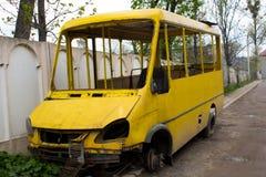 Autobus łamający Zdjęcia Stock
