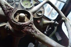 Autobus abandonné photographie stock