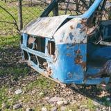 Autobus abandonné et démantelé Photo libre de droits