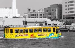 Autobus amphibie Dubaï photographie stock libre de droits
