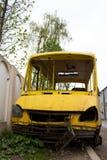 Autobus après l'accident Images stock