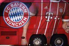 Autobus Bayern Munich d'équipe Photos libres de droits