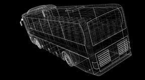 Autobus. Bus, autobus, model body structure, wire model Stock Photography