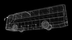 Autobus. Bus, autobus, model body structure, wire model Royalty Free Stock Photo