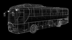 Autobus. Bus, autobus, model body structure, wire model Stock Photos