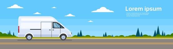 Autobus commercial d'expédition de Van Car On Road Cargo Photographie stock
