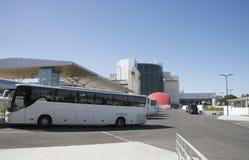 Autobus d'aéroport à l'International Portugal de Lisbonne Images stock