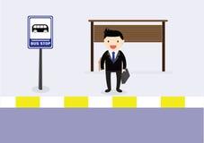 Autobus de attente Image libre de droits