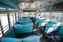 Autobus de bleu de vintage image stock