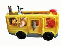 Autobus de jouet complètement des animaux images libres de droits