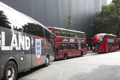 Autobus de Londres dans une rangée Photo libre de droits