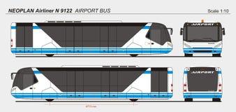Autobus de passager d'aéroport de l'avion de ligne N 9122 de Neoplan Photos stock