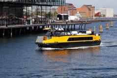 Autobus de port de Copenhague Photo libre de droits
