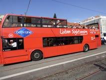 Autobus de touristes de Lisbonne Image stock