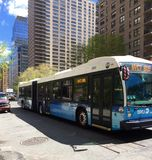 Autobus de transit de New York City images stock