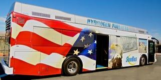 Autobus de transit de pile à combustible d'hydrogène images libres de droits