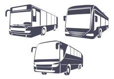 Autobus de ville l'image d'isolement sur un fond blanc illustration stock
