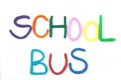 autobus do szkoły słowo Obrazy Royalty Free