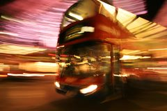 Autobus a due piani Fotografia Stock
