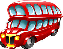 Autobus a due piani del fumetto illustrazione vettoriale