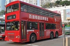 Autobus a due piani di Hong Kong Fotografia Stock Libera da Diritti