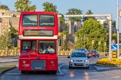 Autobus a due piani di Skopje Fotografia Stock