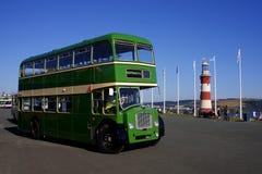 Autobus a due piani, Plymouth, Inghilterra, Regno Unito Immagine Stock Libera da Diritti