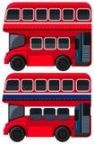 Autobus a due piani su fondo bianco illustrazione di stock