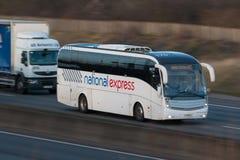 Autobus espresso nazionale Immagini Stock Libere da Diritti