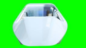 Autobus futuriste de vol de passager Transport de l'avenir isolat du rendu 3d illustration stock