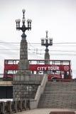 Autobus guidé de ville rouge image libre de droits