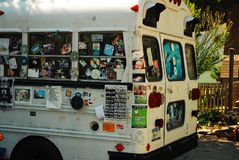 Autobus hippie chez Woodstock photos stock