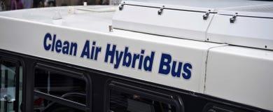 Autobus hybride d'air pur photos libres de droits