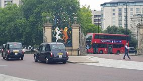 Autobus Hyde Park de cabine de Londres Photo stock