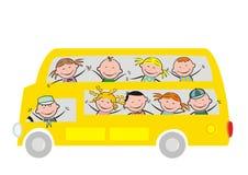 Autobus i dzieciaki Zdjęcia Royalty Free