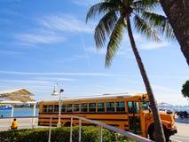 Autobus jaune en Floride photo stock