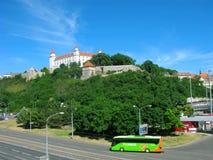 Autobus ono potyka się z Flixbus, Bratislava Fotografia Royalty Free