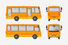 Autobus photo 1. Set stock vector illustration  bus front, side, back view flat style white background Element for site, infographic, video, animation, website Stock Photo