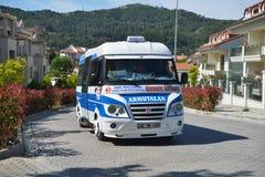 Autobus public dans Marmaris, Turquie Photos libres de droits