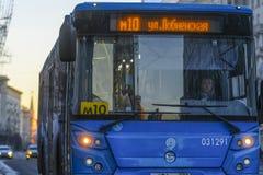 Autobus régulier à Moscou image libre de droits