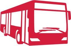 Autobus rouge de ville illustration libre de droits