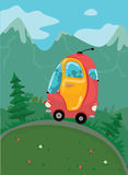 Autobus rouge de voyage Photo libre de droits