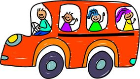 Autobus scolaire illustration libre de droits