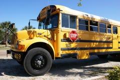 Autobus scolaire américain Photographie stock