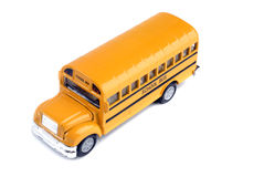 Autobus scolaire coulé sous pression Photos stock