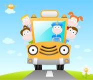 Autobus scolaire drôle Image libre de droits
